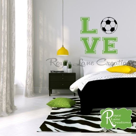 Best Soccer Ball Soccer Wall Decal For Girls Room T**N Girl Bedroom With Pictures