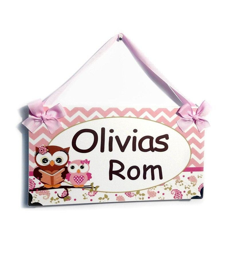 Best Personalized Name Door Signs For Girls Bedroom Chevron With Pictures