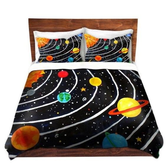 Best Solar System Kids Duvet Cover Bedding For Children Nursery With Pictures