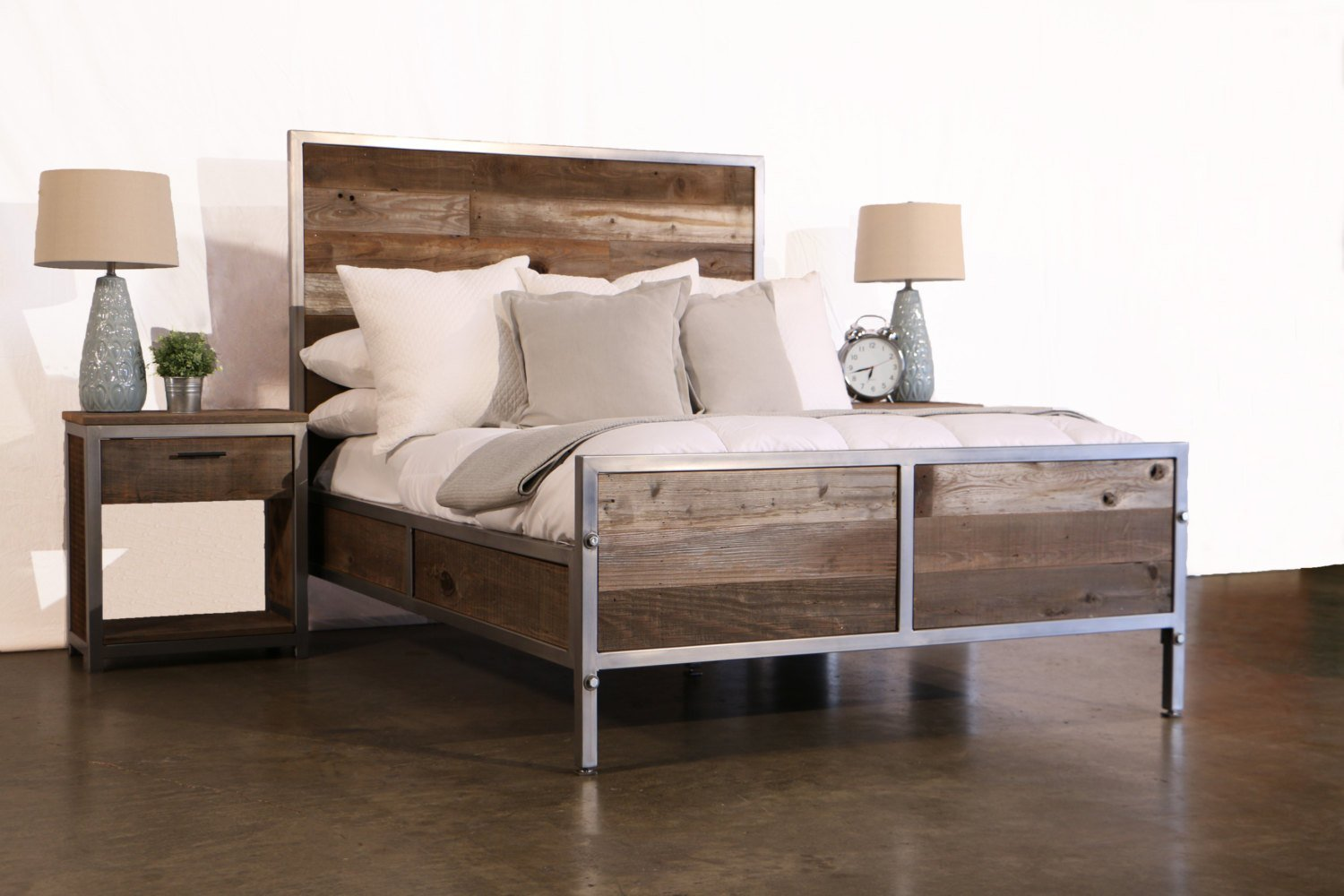 Best Reclaimed Wood Industrial Bedroom Set By Foundpurpose On Etsy With Pictures