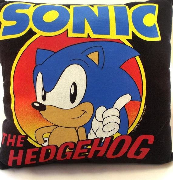 Best Sonic Hedgehog T Shirt Pillow Throw Pillow Bedroom Accent With Pictures
