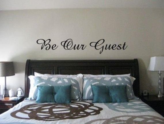 Best Be Our Guest Vinyl Wall Decal Guest Room Wall Decals With Pictures
