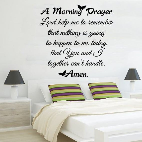 Best Family Wall Decal Quote Morning Prayer Art By Amazingdecalsart With Pictures