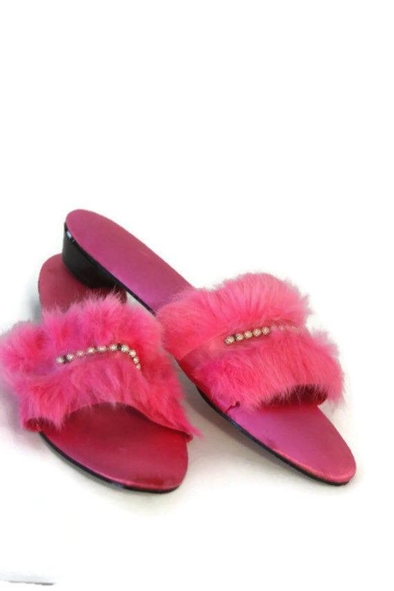 Best Vintage Womens Bedroom Slippers Hot Pink Slippers House With Pictures