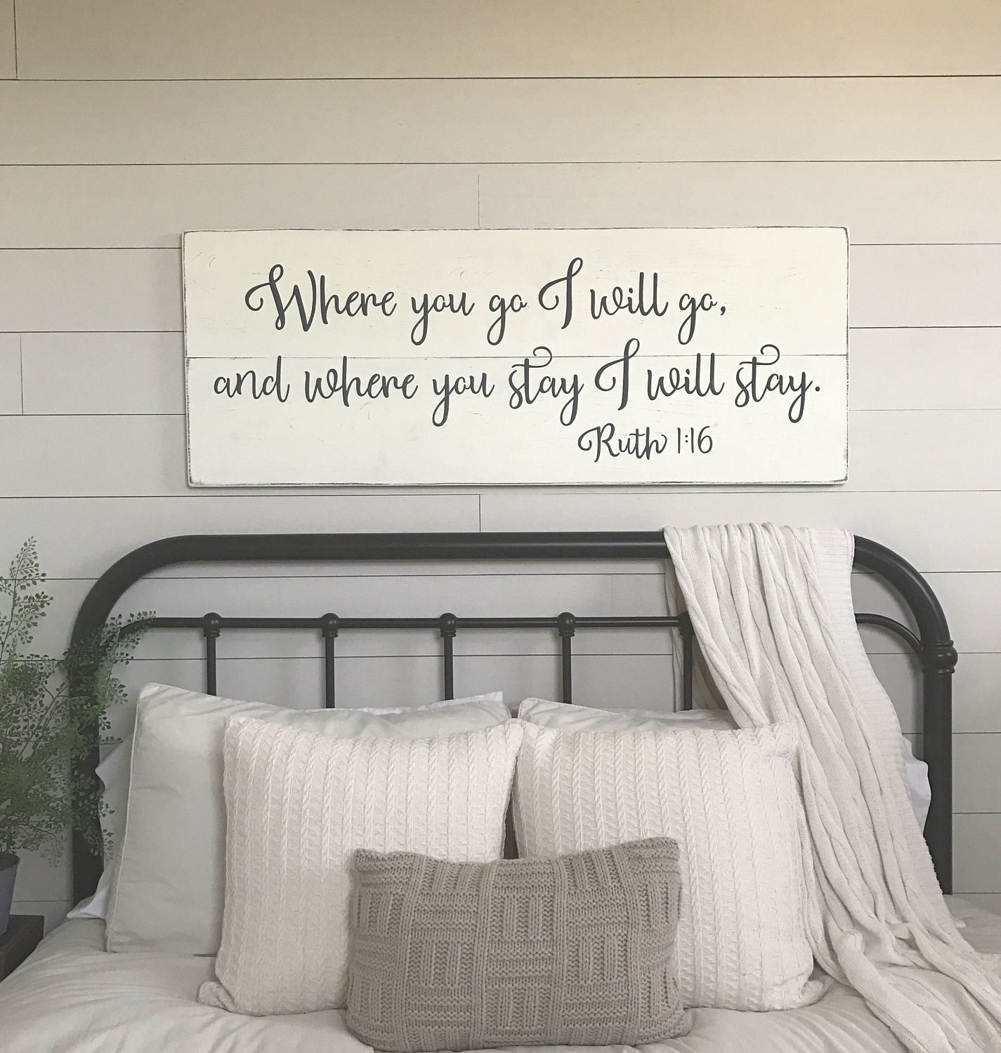 Best Bedroom Wall Decor Where You Go I Will Go Wood Signs With Pictures