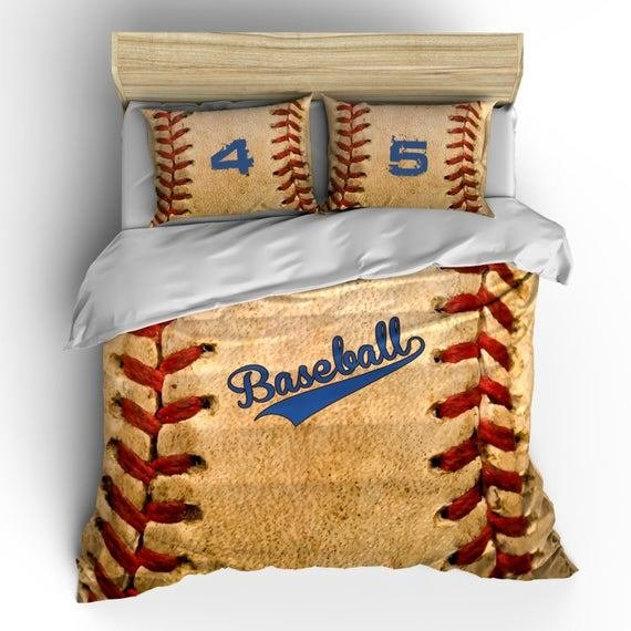 Best Monogrammed Vintage Baseball Theme Bedding Stitch Look With Pictures