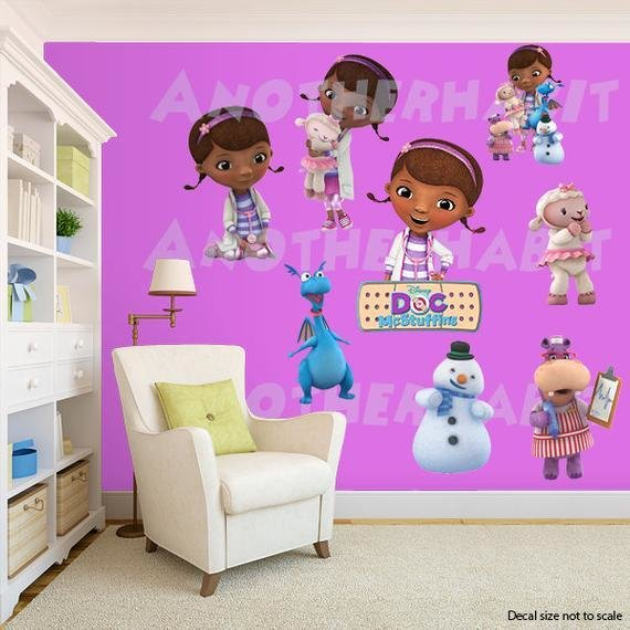 Best Doc Mcstuffins Wall Decal Room Decor With Pictures