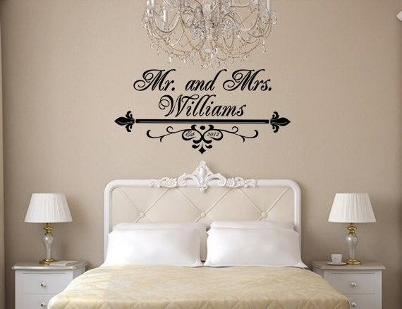 Best Items Similar To Mr And Mrs Wall Art Vinyl Black Decal With Pictures