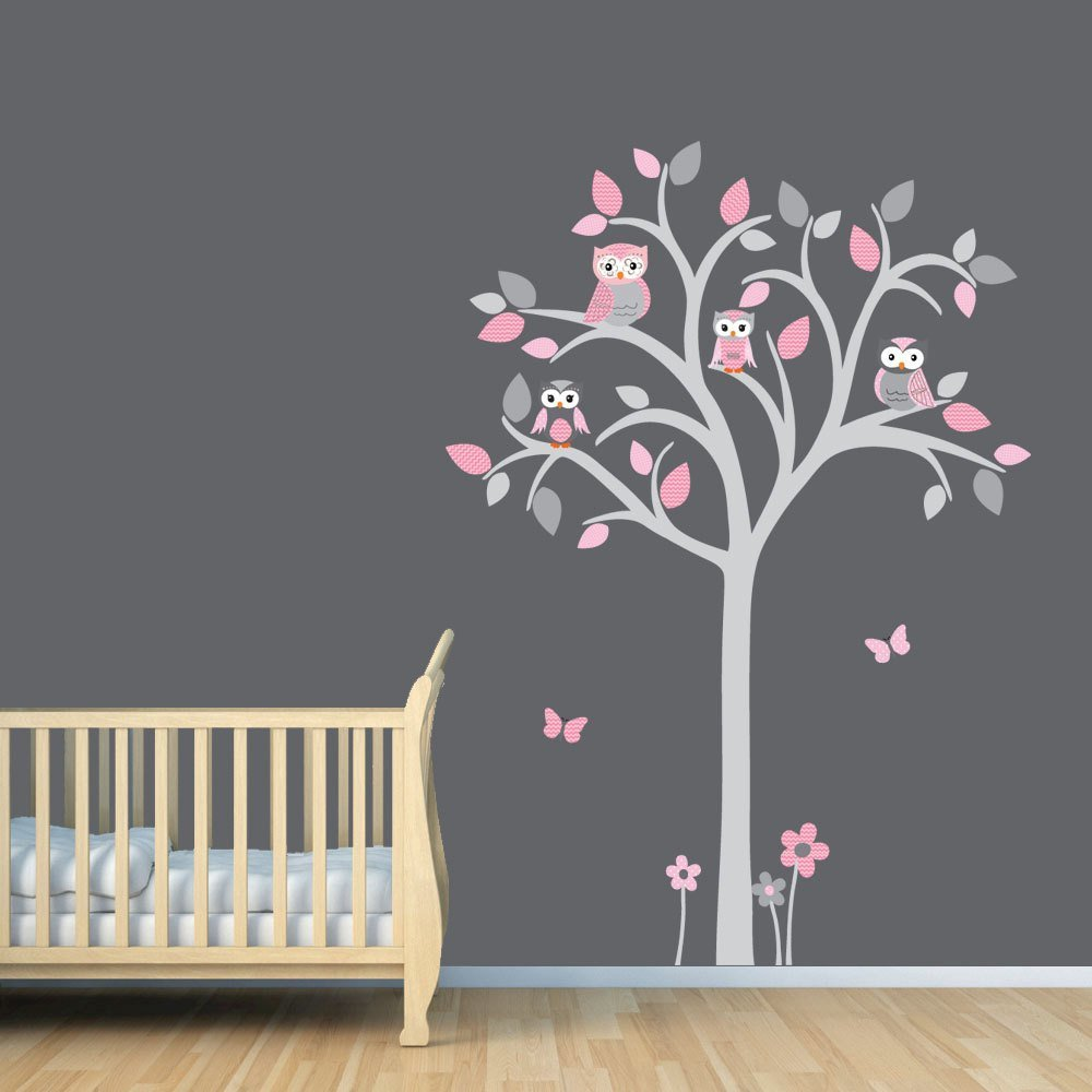 Best Owl Tree Decal Owl Tree Wall Sticker Owl Nursery Art Owl With Pictures