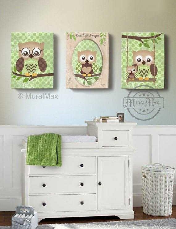 Best Owl Kids Art Owl Decor Art For Children Owls Nursery Art With Pictures