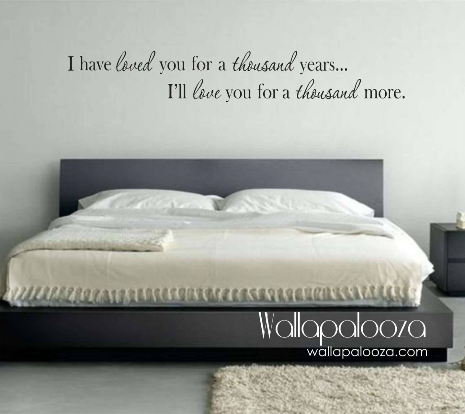 Best Bedroom Wall Decor I Have Loved You A Thousand Years Wall With Pictures