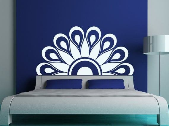 Best Headboard Wall Decal Headboard Decal Twin Full Queen King With Pictures