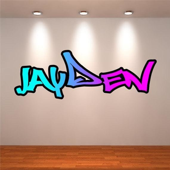 Best Personalised Graffiti Name Wall Decals Wall Art Sticker With Pictures