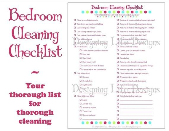 Best Bedroom Cleaning Checklist Pdf Printable Household With Pictures