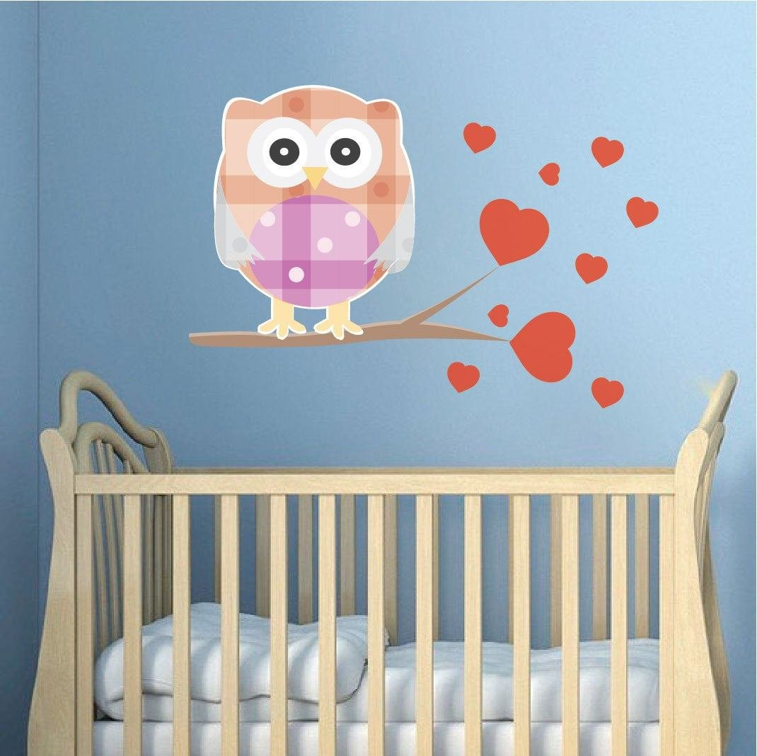 Best Nursery Owl Decal Mural Owl Wall Sticker Kids Room By With Pictures