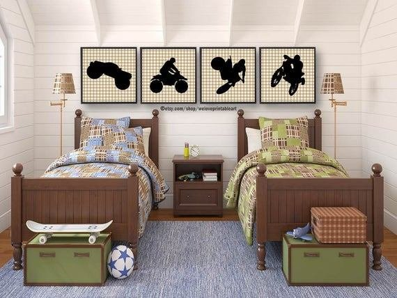 Best Motorcycle Dirt Bike Monster Truck Boys Bedroom Decor Boys With Pictures