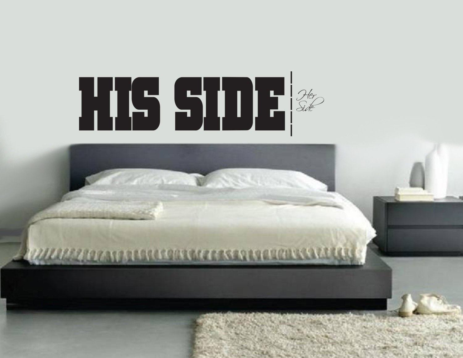 Best His Side Her Side Wall Decal Master Bedroom Living Room With Pictures