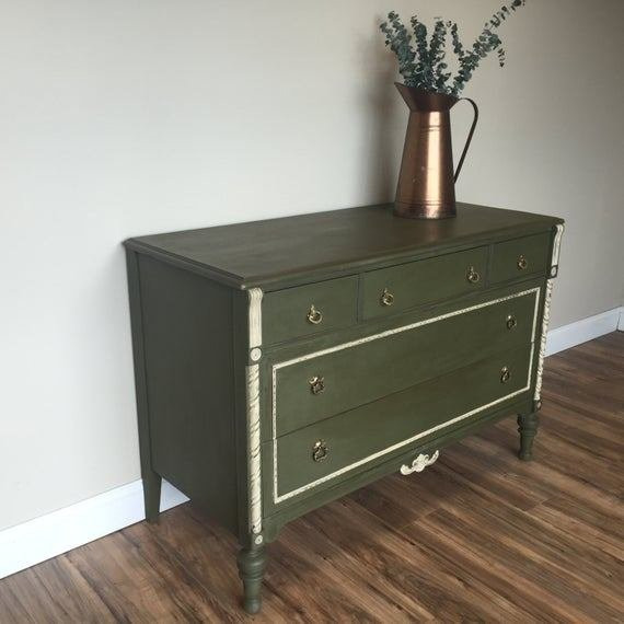 Best Antique Chest Of Drawers Green Dresser Unique Bedroom With Pictures