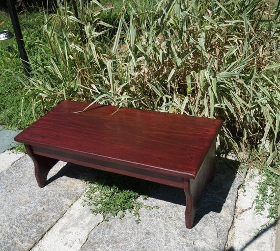 Best Handcrafted Heavy Duty Step Stool Solid Wood *D*Lt Bedside With Pictures