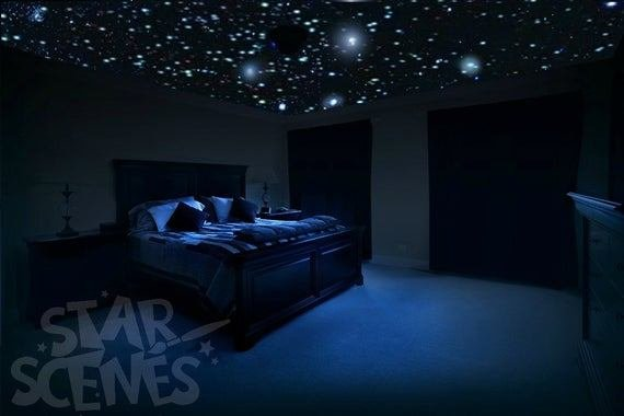 Best Home Theater Ceiling Star Decals Glow In The Dark Stars For With Pictures
