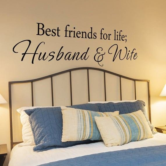Best Friends For Life Husband And Wife Vinyl Bedroom Wall With Pictures