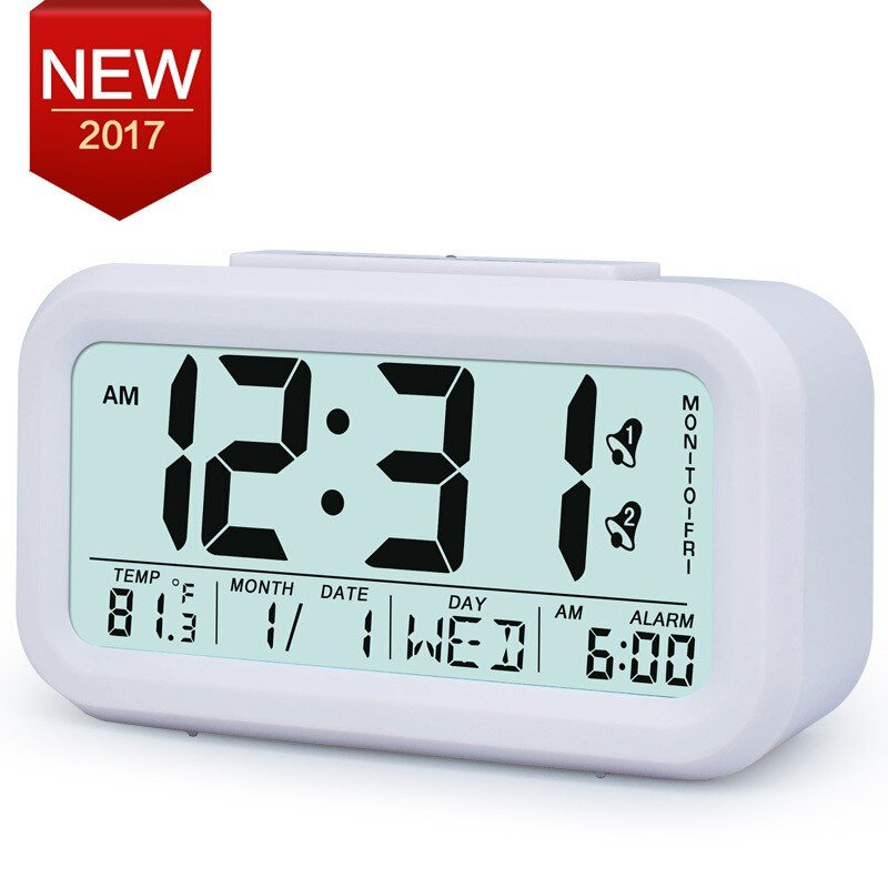 Best Large Digital Alarm Clock Lcd Student Bedroom Electronic With Pictures