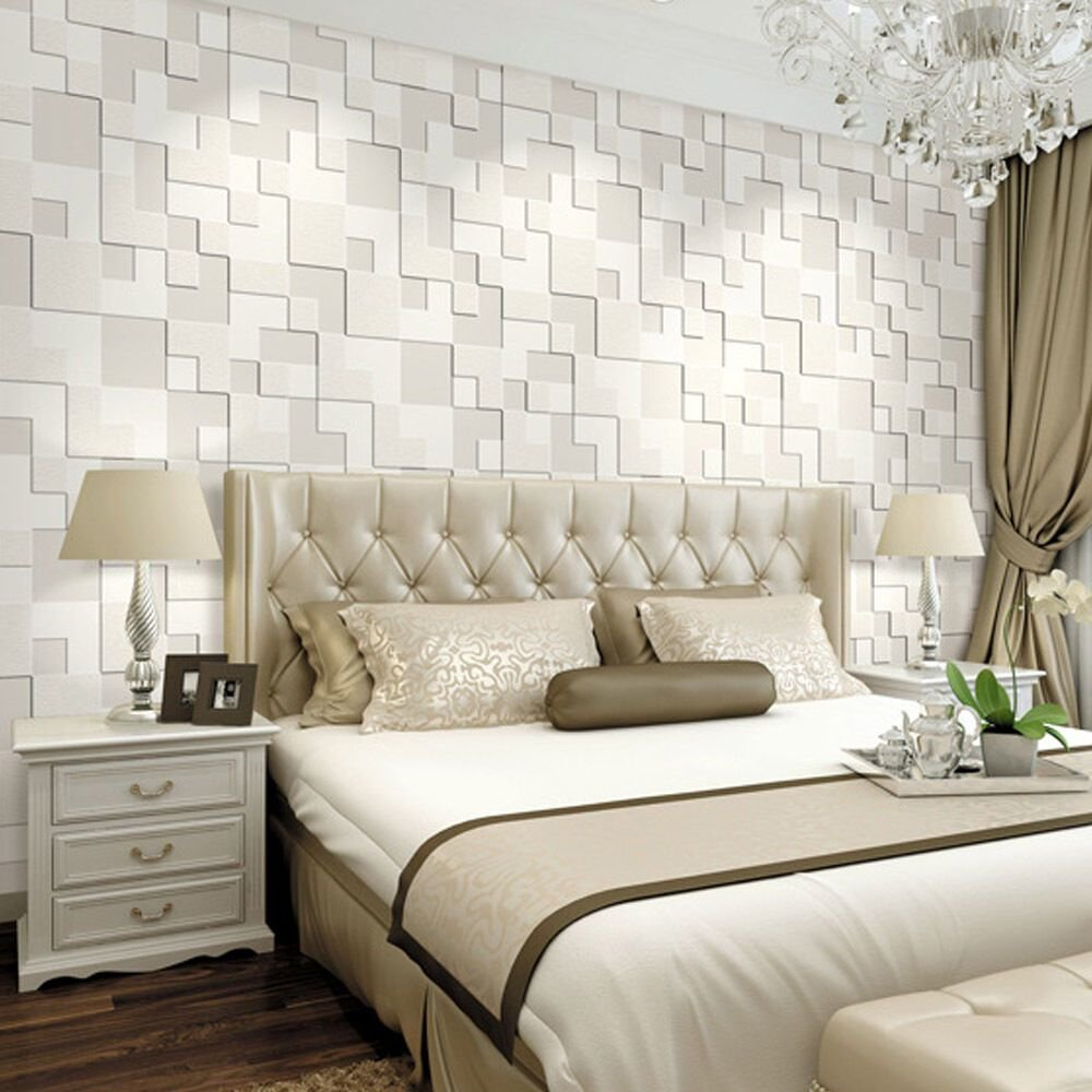 Best 10M 3D Wallpaper Mosaic Lattice Non Woven Fabrics With Pictures