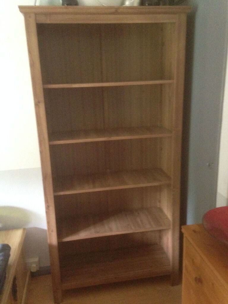 Best Ikea Grevback Large Antique Pine Effect Bookcase In With Pictures
