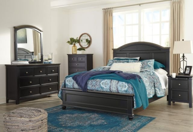 Best Ashley Furniture Froshburg Queen 6 Piece Bedroom Set B628 With Pictures