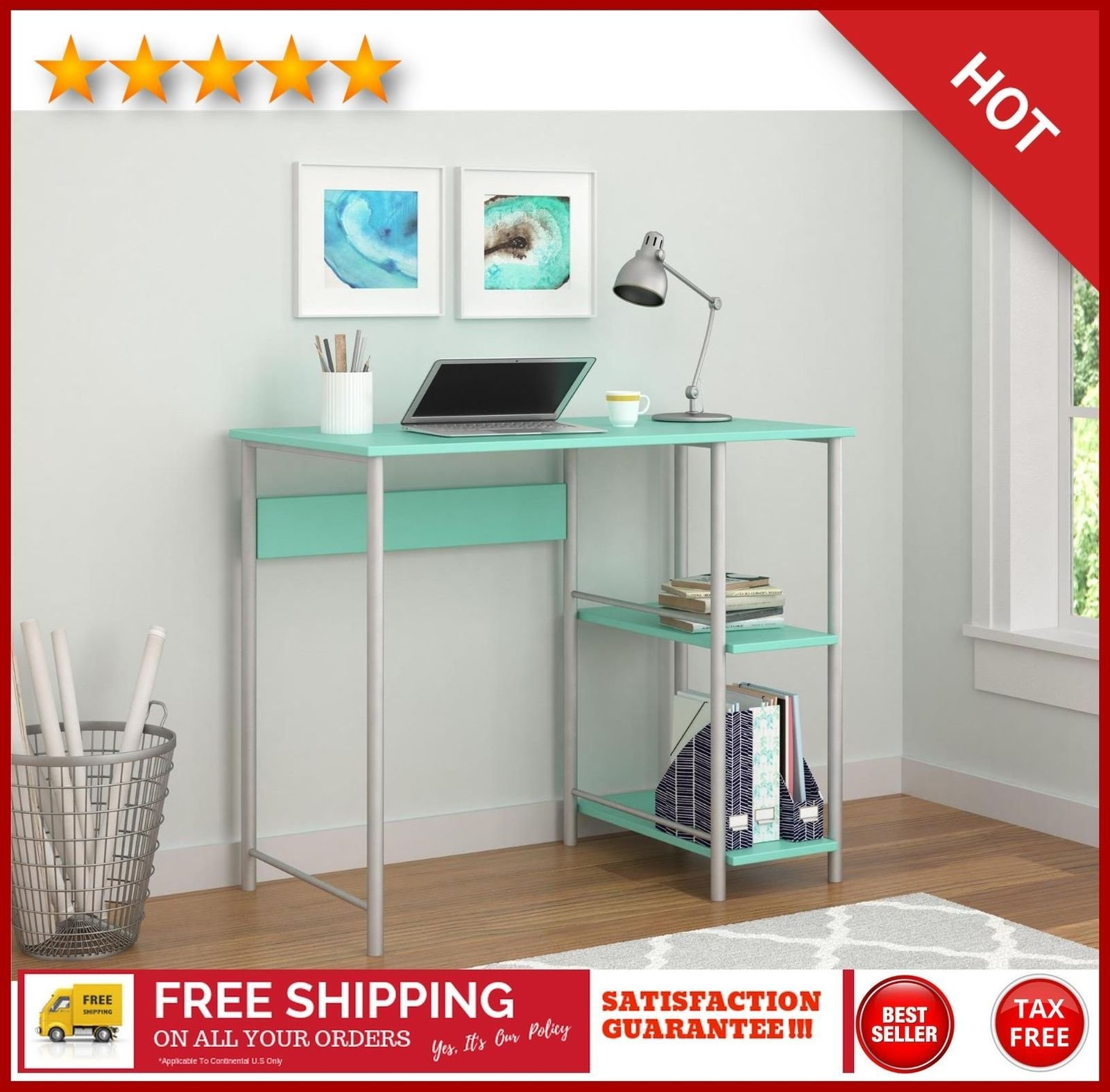 Best Small Writing Desks Student Computer Desk Kid T**N Bedroom With Pictures
