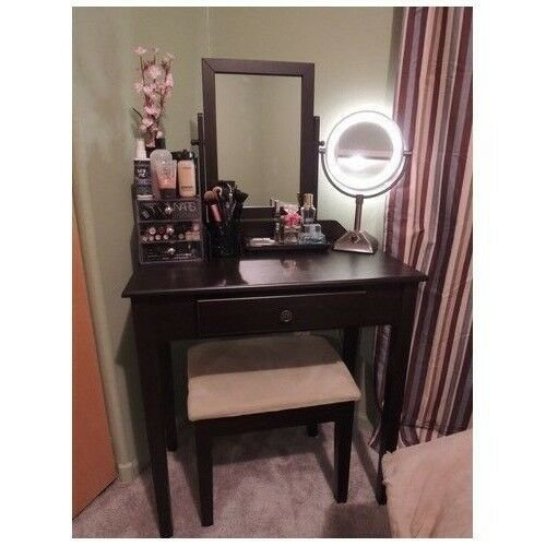 Best Vanity Table Set Mirror Stool Bedroom Furniture Dressing With Pictures