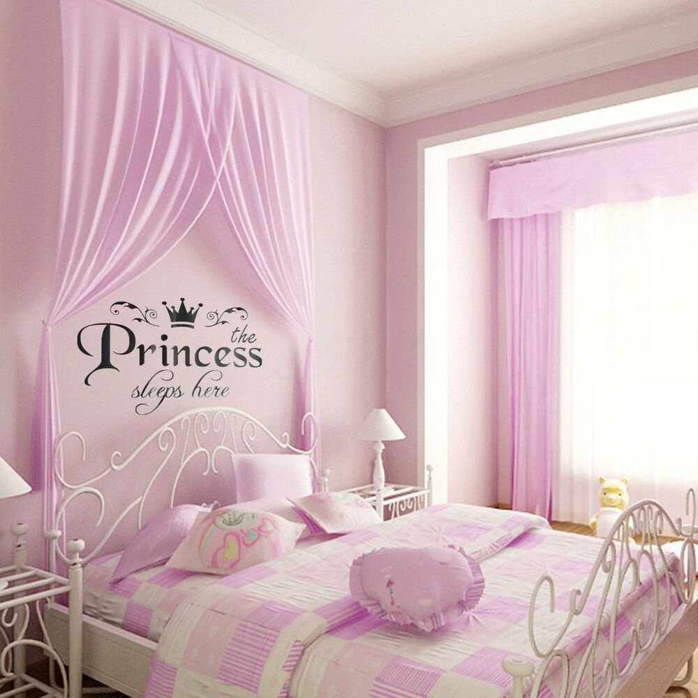 Best Removable Vinyl Wall Stickers Girls Fairy Tale Princess With Pictures