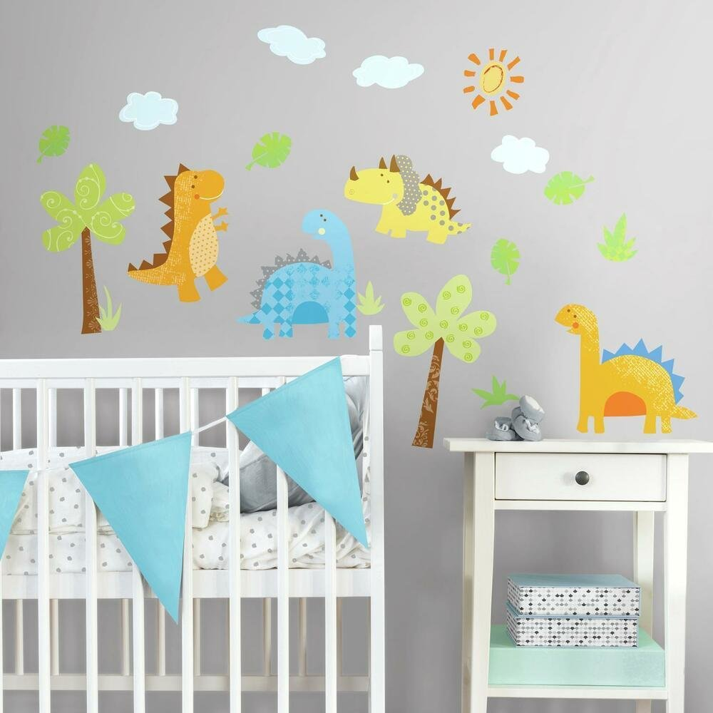 Best New Dinosaurs Wall Decals Dinosaur Stickers Kids Bedroom With Pictures