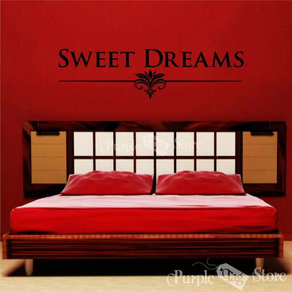 Best Sweet Dreams Vinyl Art Home Wall Room Bedroom Quote Decal With Pictures