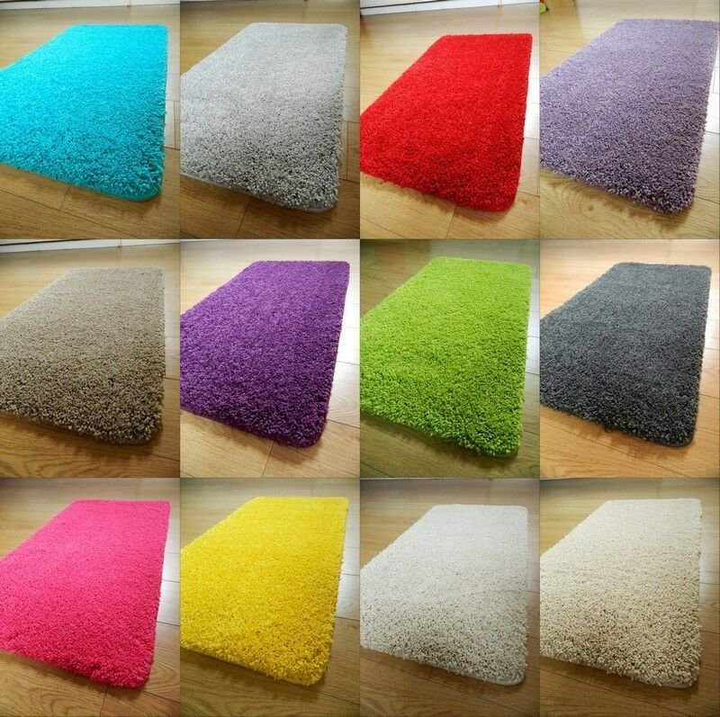 Best New Soft Plain Shaggy Mats Washable Non Slip Large Small With Pictures