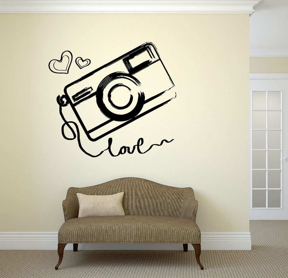 Best Wall Vinyl Sticker Photo Photography Room Art Kids T**N Room Love Girl Ig2046 Ebay With Pictures