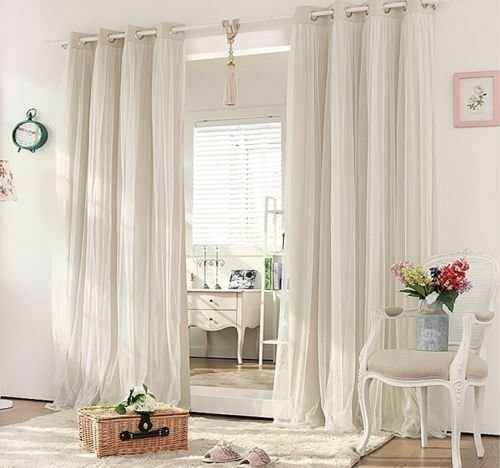 Best Blockout Eyelet Curtains Lounge Bedroom Bridal Lace Girls Curtain Beige Cream Ebay With Pictures