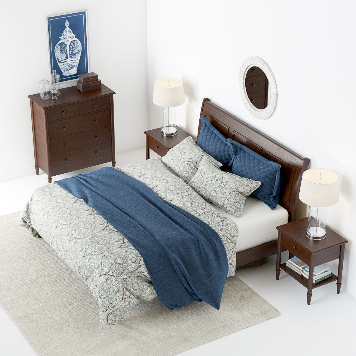 Best Pottery Barn Crosby Bedroom Set With Decor With Pictures