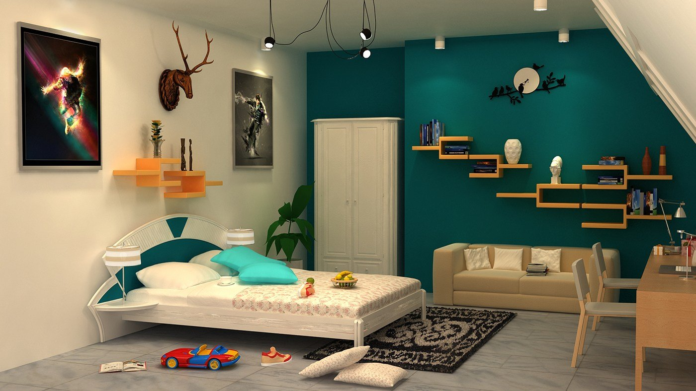 Best 3D Interior Of Bedroom With 3Ds Max With Vray On Behance With Pictures
