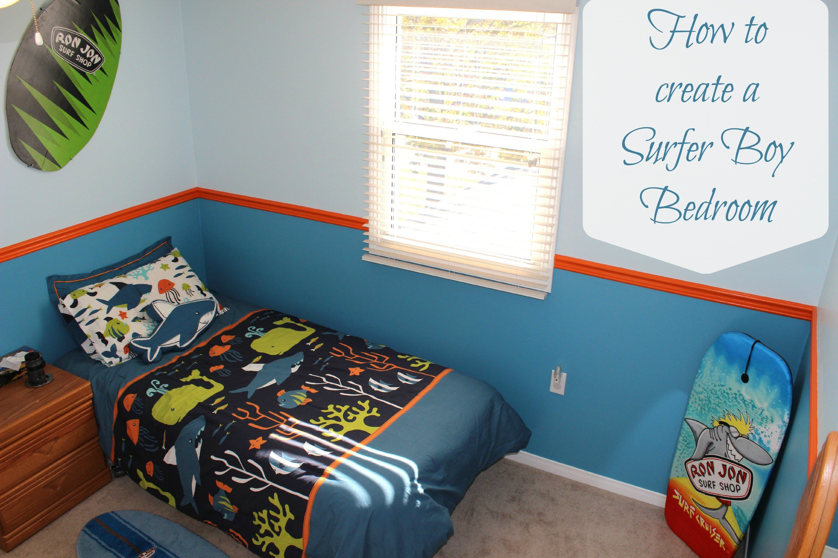 Best How To Create A Surf Bedroom Theme Mom Vs The Boys With Pictures