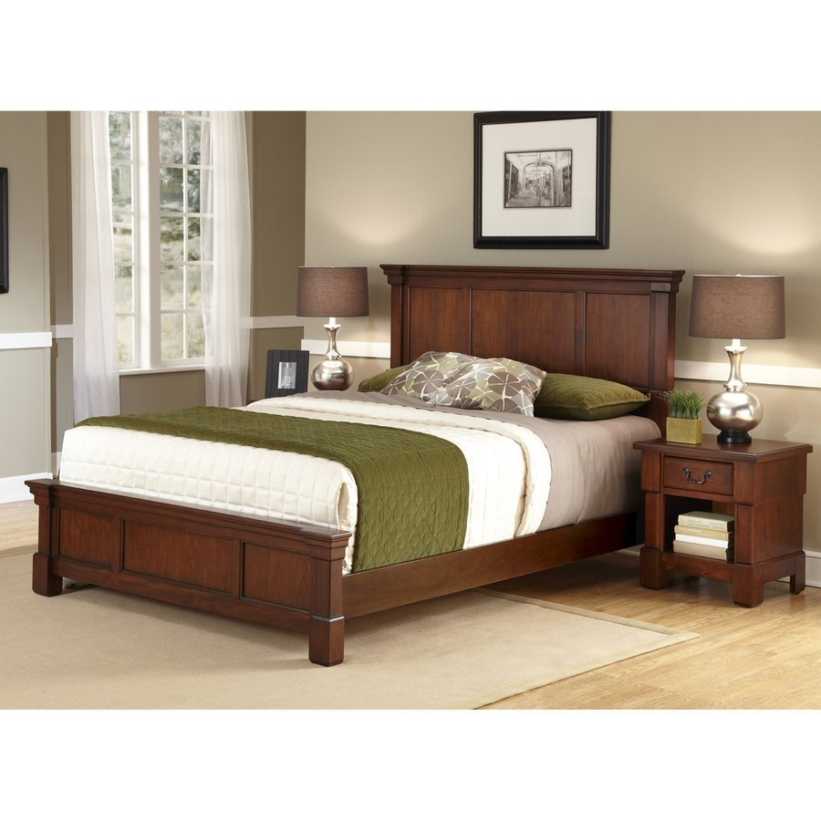 Best Home Styles Aspen Rustic Cherry King Bedroom Set At Lowes Com With Pictures