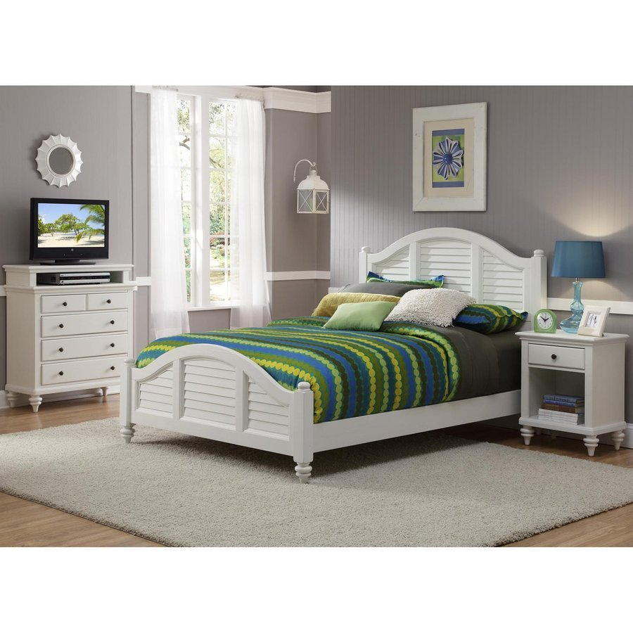 Best Home Styles Bermuda Brushed White Queen Bedroom Set At With Pictures