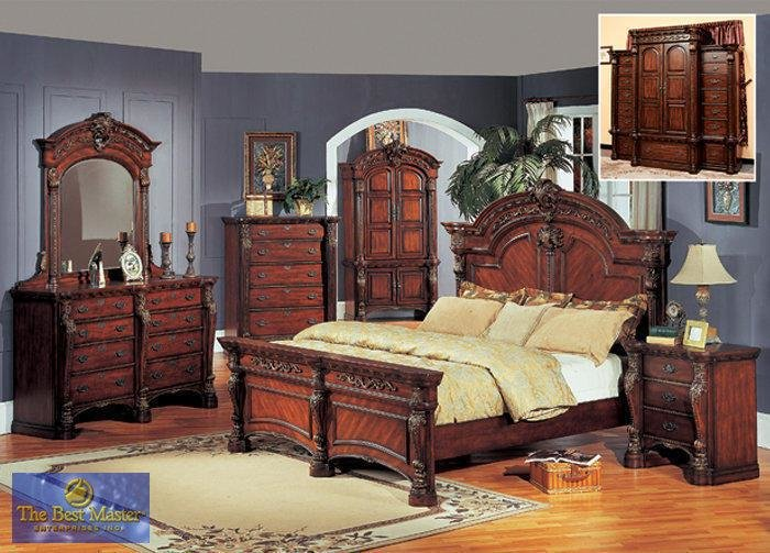 Best Wood Bed Sets Ornate King And Queen Panel Bedroom With Pictures