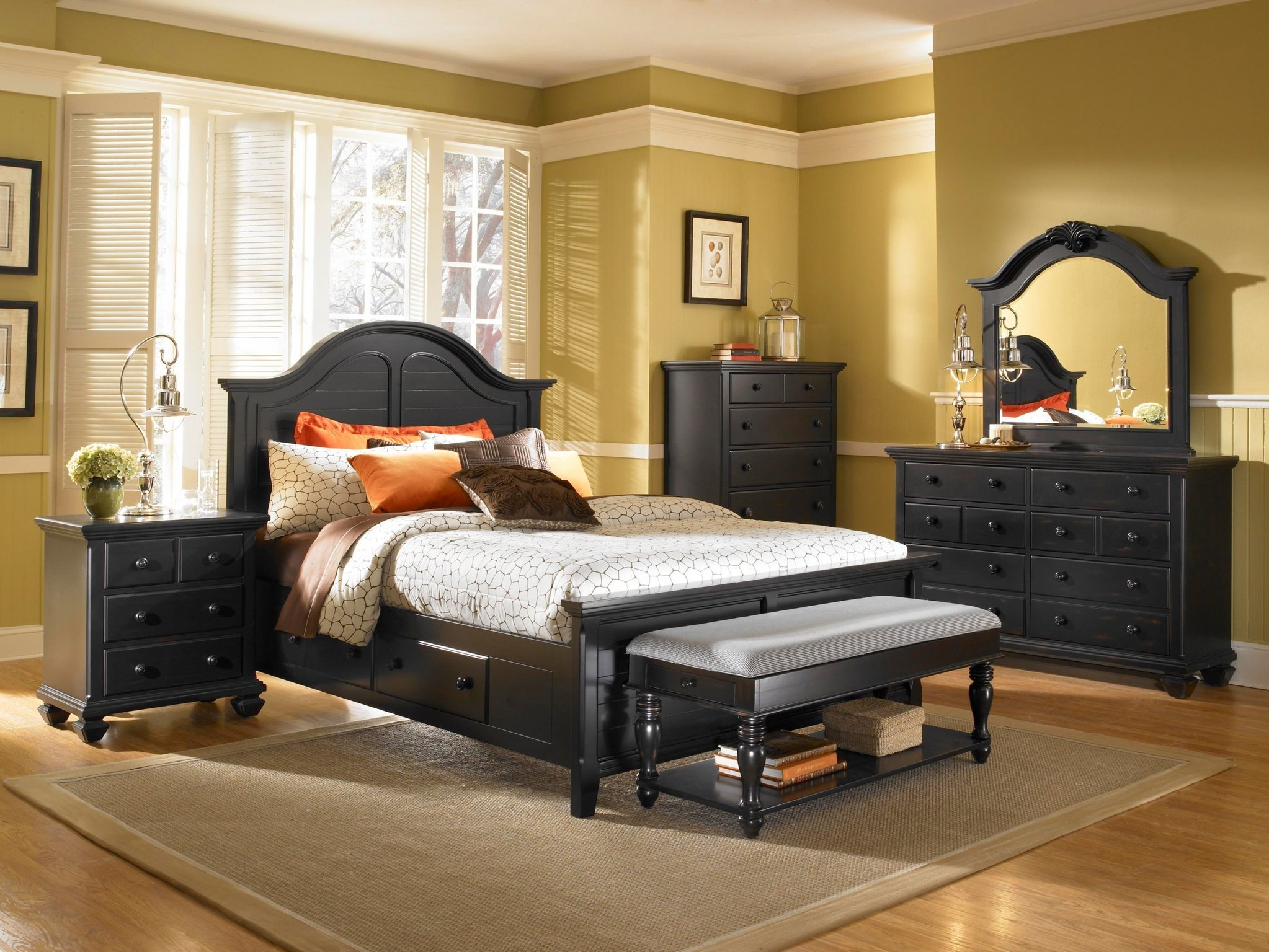 Best Espresso Country Style Bedroom Collection Panel Bed With Pictures