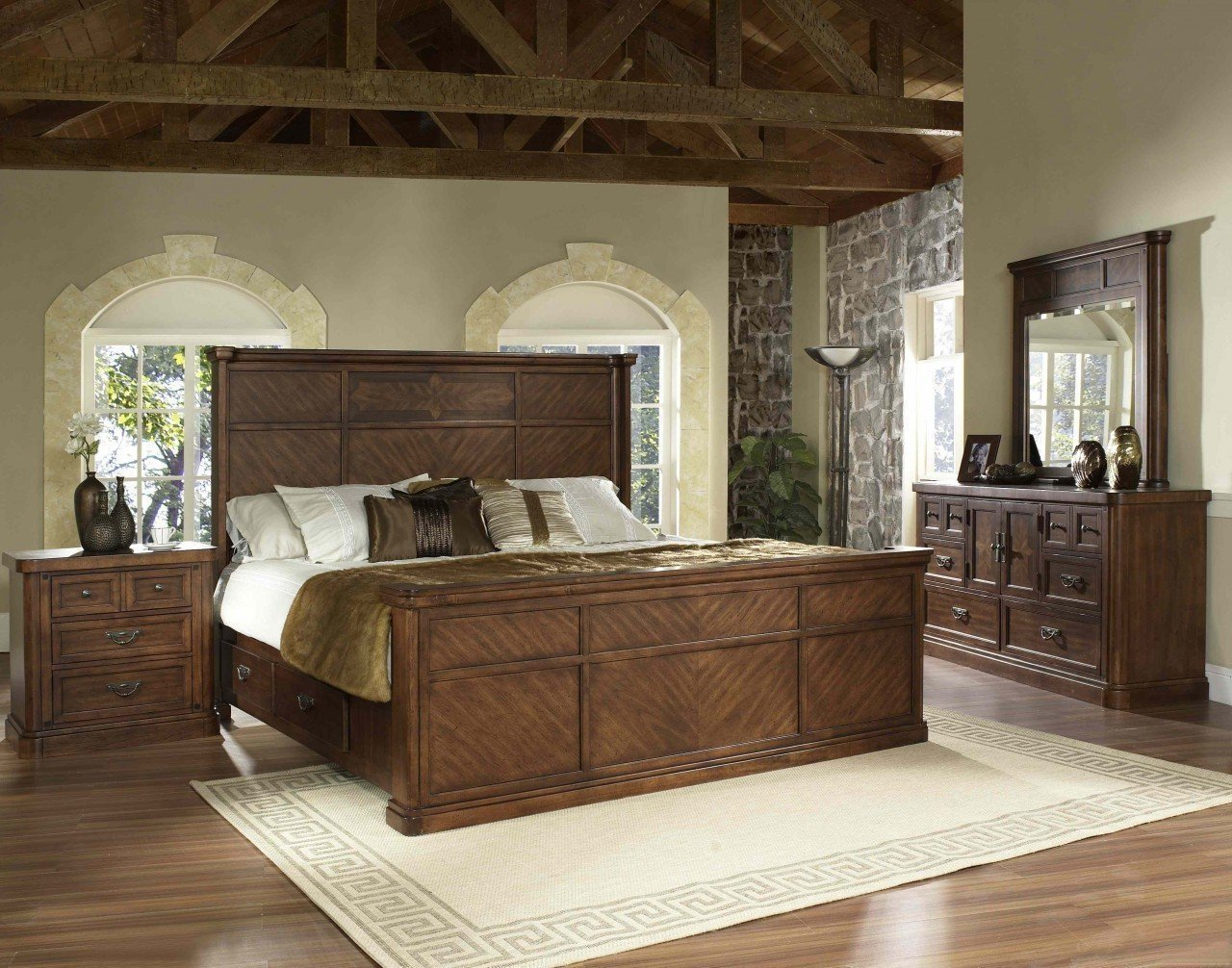 Best The Melina Elegant Traditional Storage Bedroom Set With Pictures
