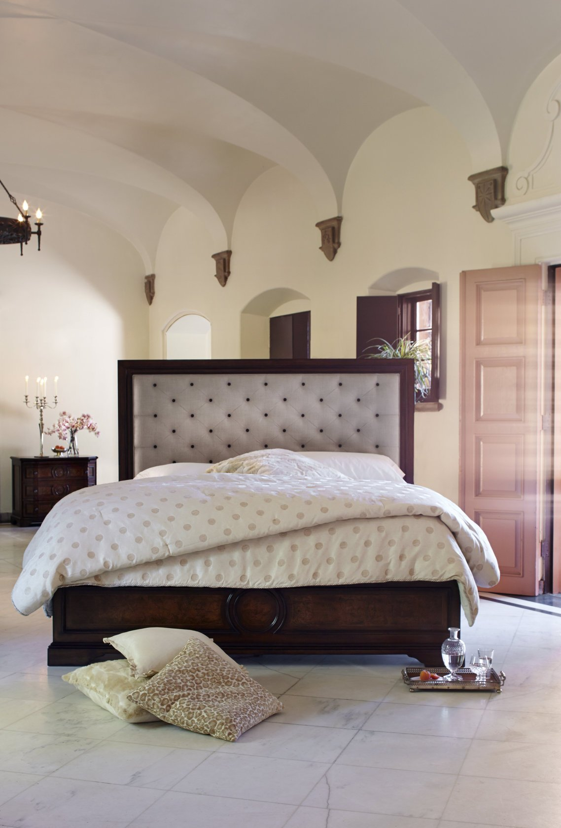 Best The Bella Cera Fabric Upholstered Bedroom Collection Bedroom Furniture Bedroom Sets With Pictures