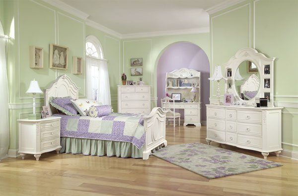 Best Child Panel Bedroom Set Traditional Antique White Cottage Style Youth Bed Collection With Pictures