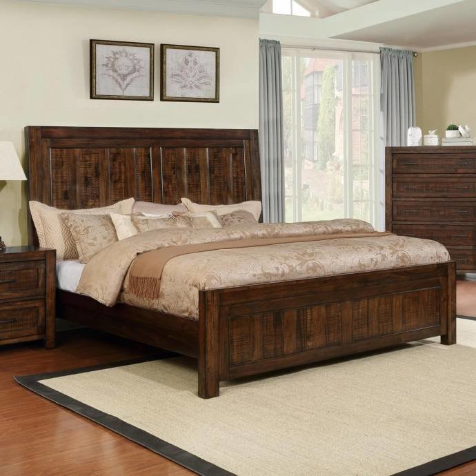 Best Crown Mark Boulder Rustic Dark Brown Finish Solid Wood With Pictures