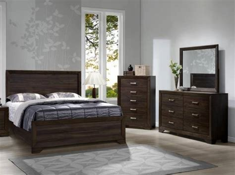 Best Bernards Furniture Asheville Dark Mango 1030 Queen Bedroom With Pictures