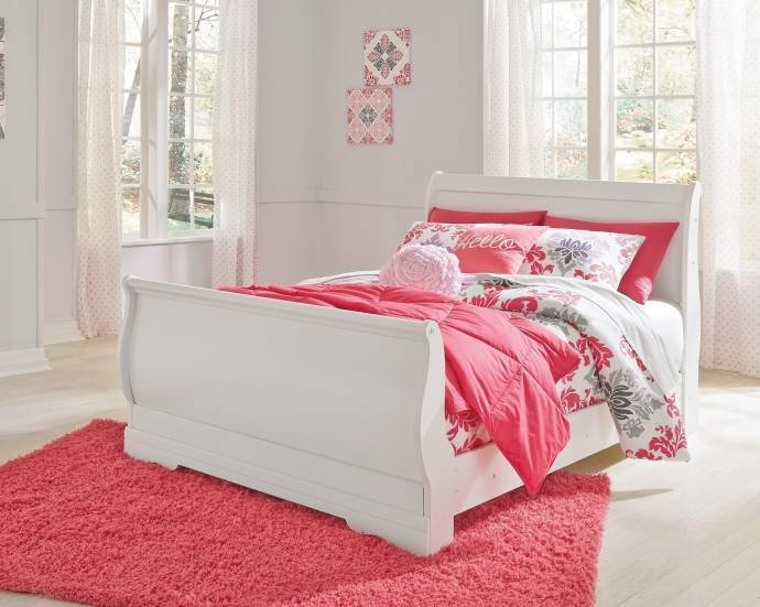 Best Ashley Anarasia B129 Full Size Sleigh Bedroom Set 3Pcs In With Pictures